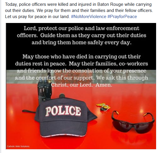 Pray for Police on Facebook